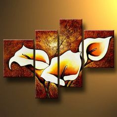 Santin Art-Splendour-Modern Canvas Art Wall Decor Floral Oil Painting Wall Art Santin Art http://www.amazon.com/dp/B00JWJ19PK/ref=cm_sw_r_pi_dp_g3Xoub00VGTGJ