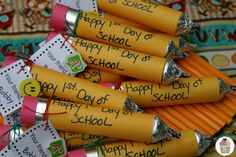 Write a special message on these Back to School Candy pencils from #Walmart Mom Liz.