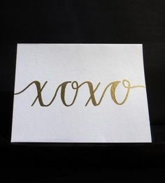 """XOXO"" Cards – 10-pack by Modern Memo"