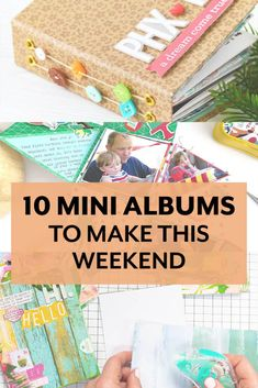 10 Mini Albums to Make this Weekend from Scrapbook .com - J. Conlon and Sons Photo Album Scrapbooking, Mini Scrapbook Albums, Mini Albums Scrap, Diy Mini Album Tutorial, Mini Photo Albums, Paper Crafts Origami, Fancy Fold Cards, Mini Books, Mini Photo Books