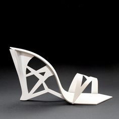 """Sarajevo designer Tea Petrovic has designed a collection of shoes based on the work of late Russian sculptor Naum Gabo and Spanish architect Santiago Calatrava."""