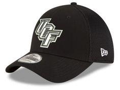 University of Central Florida Knights New Era NCAA Black White Neo 39THIRTY  Cap 0b09f45816e8