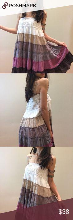 "Brand new beach dress or long skirt Brand new, size L available- total length 29"" chest or waistline 30"" strechy elastic band Dresses"