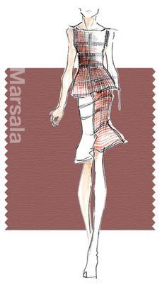 Pantone's Top 10 Color Choices for Spring: Design by Hervé Léger.
