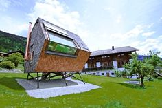 This adorable tiny cabin by Peter Jungmann is called the Ufogel