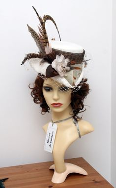 Upcycled Victorian Riding Hat Steampunk style