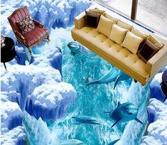 3D Dolphin Leap 107 Floor Mural | AJ Wallpaper 3d Floor Art, 3d Floor Painting, Floor Murals, Wall Murals, Ceiling Murals, Floor Wallpaper, Custom Wallpaper, Wallpaper Murals, 3d Flooring