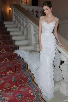 berta 2014 ruffle wedding dress