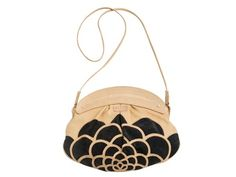 Kaleidoscope Possum Bag by missibaba: Camel colored leather with black suede detail. #Handbag #missibaba....    In the end, adorable!