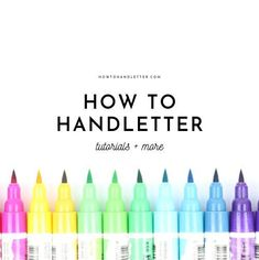 Learn how to hand letter with modern lettering and calligraphy tips, video tutorials, printable worksheets and inspiration for beginner hand lettering at How To Handletter Hand Lettering For Beginners, Calligraphy For Beginners, Hand Lettering Tutorial, Hand Lettering Fonts, Doodle Lettering, Handwritten Letters, Lettering Styles, Calligraphy Letters, Monogram Fonts
