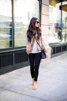 Wear to Work - Loft pants // Loft shirt // Loft shoes Bella Fare vest // Fendi bag // Celine sunglasses Wednesday, October 15, 2014