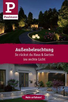 Outdoor lighting: ideas & tips - Trend Heilige Architektur 2019 Home Decor Accessories, Luxury Lifestyle, Outdoor Lighting, Mansions, House Styles, Garden, Holiday, Drop Waist, Veil