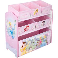 get this for my girl room. Disney - Princess Multi-Bin Toy Organizer ...