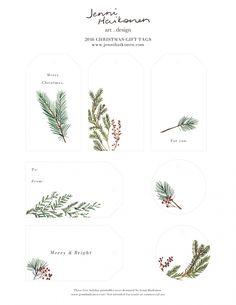 FREE Printable Christmas Gift Tags by jennihaikonen