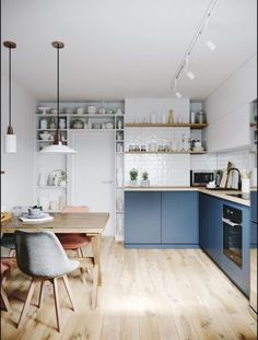 Can you really have a cosy kitchen? Five ideas to try. Cosy Kitchen, Scandinavian Kitchen, Home Decor Kitchen, Kitchen Interior, New Kitchen, Kitchen Dining, Coastal Interior, Kitchen Grey, Eclectic Kitchen