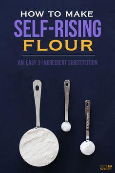 How To Make Self-Rising Flour | Gimme Some OvenHow To Make Self-Rising Flour •1 cup AP Flour •1 1/2 tsp Baking Powder •1/2 tsp Salt •Whisk together.