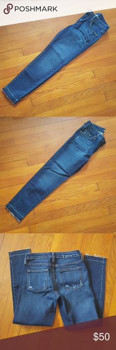 Brand new Just Black jeans Extremely flattering. Brand new never worn. Too long on me. Made in USA! Cut#22289 slender leg with a loose ankle frayed cut Just Black Jeans Ankle & Cropped
