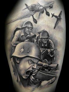 2 Weltkrieg Tattoo