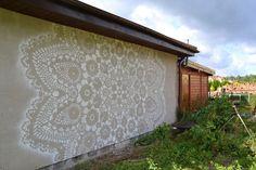 """street art + """"crochê"""""""