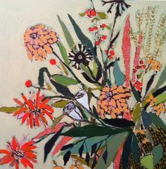"""Lulie Wallace """"Bouquet for Nora"""" 24x24"""