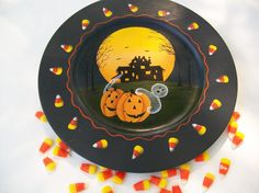 Halloween Tray Decorative Art Wood by LeapofFaithCreations on Etsy