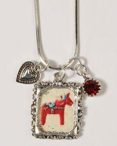 Dala Horse Necklace
