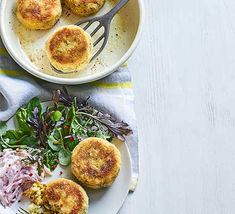 Make a batch of these spiced cod fishcakes and freeze them for busy weeknights. Serve with salad and coleslaw for a tasty family meal Bbc Good Food Recipes, Cooking Recipes, Bbc Good Food Show, Ragu Recipe, Fishcakes, Cottage Pie, Vegan Curry, Best Italian Recipes, Food Cakes