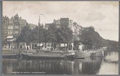 prentbriefkaart van de Amstel in Amsterdam bij de Nieuwe Herengracht, ca. 1920
