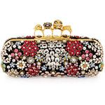 Alexander McQueen Knuckle Box Brooch Crystal Clutch Bag