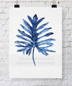 Hey, I found this really awesome Etsy listing at https://www.etsy.com/listing/184120872/tropical-leaf-ii-watercolor-print-in