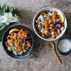 Quick Harissa Lentils with Roast Squash