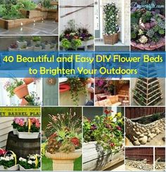 Recipes, Projects & More - 40 Beautiful and Easy DIY Flower Beds to Brighten Your Outdoors