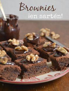 Brownies en sartén. Super fáciles y deliciosos. Receta paso a paso con vídeo