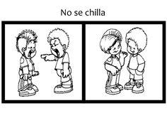 No se chilla pictograma Image Clipart, Kindergarten, Clip Art, Comics, Children, School, Boys, Fictional Characters, Corner