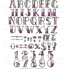 clip-art-of-purple-and-yellow-tattoo-numbers-letters-and-symbols-by-andy-nortnik-11.jpg (1024×1044)