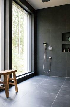 Harmaja honkain keskellä - Valkoinen Harmaja My House, Scandinavian, Bathtub, Bathroom, Home, Black, Standing Bath, Bath Room, Bath Tub