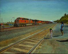 "Saatchi Online Artist Thu Nguyen; Painting, ""Passing Train"" #art"