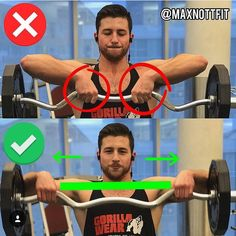 UPRIGHT ROWS: excellent builder for delts, but only when executed in a very specific way - doing these properly is grip width. mistake using a very narrow grip, thinking that the unnecessary strain on my wrist was worth the gainz I thought I was making -