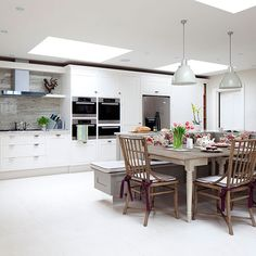 Küchen Küchenideen Küchengeräte Wohnideen Möbel Dekoration Decoration  Living Idea Interiors Home Kitchen   Große Offene Weiße