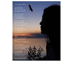 Silhouette Poetry Art Love Yourself Enough Poem by GrayWolfGallery