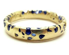 New Eroded Crystal ring in blue sapphire |