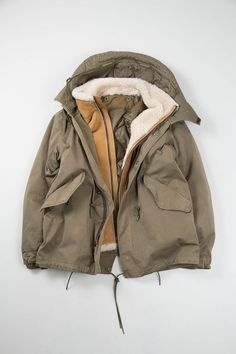 Olive Short Parka | Ten C