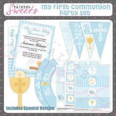 PRINTABLE First Communion Fill-in-the-Blank or Stationery ...
