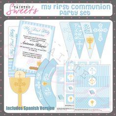 Boy First Communion Party Printable. $8.00, via Etsy.