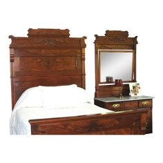 Mayberry Street Miniatures Walnut Bedroom Set With Floral