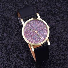 2016 new design luxury brand leather watch women rhinestone watches women dress quartz imitate diamond wristwatch lady relogio