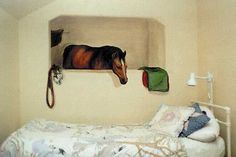 Just what I need, Mr. Ed looking in on me in my sleep. Peeping Horse!