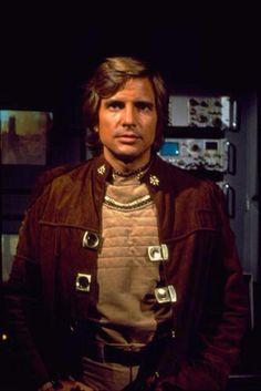 Dirk Benedict as Starbuck in Battlestar Galactica (Original TV Series)