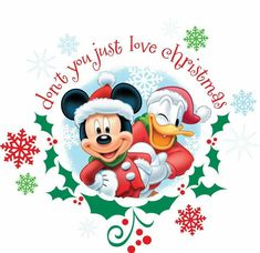 Mickey Mouse and Donald Duck Christmas Mickey Mouse Christmas, Christmas Labels, Mickey Mouse And Friends, Noel Christmas, Mickey Minnie Mouse, Christmas Countdown, Christmas Pictures, Disney Mickey, Walt Disney