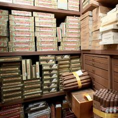 Walk-in humidor of the italian cigar collector...